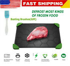 Fast Defrosting Tray Thaw Frozen Food Meat Fruit Quick Defrosting Plate NEW
