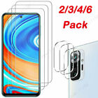 For Xiaomi Redmi Note 10 9S 8 7 6 5 Pro Max Tempered Glass Screen/Lens Protector