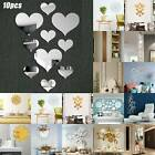 3d Mirror Effect Removable Wall Sticker Ornament Art Mural Decal Home Decoration