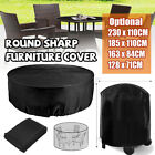 2.3m Outdoor Furniture Round Cover Waterproof Garden Table Chair She