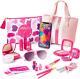 Make It Up, 20 Piece- Glamour Girl 2 in 1 Realistic Pretend Makeup Set + Purse & photo