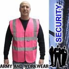 HIGH VIZ SAFETY WAISTCOAT VEST Security Doorman Bouncer