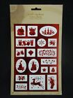Christmas Foil Embossed Craft Stickers ST2166
