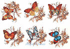 Ceramic Decals Butterflies/Butterfly & Floral 6 designs image