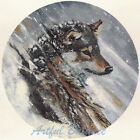 Ceramic Decals Wolf Wolves in Winter Snowstorm Snow