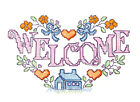 Ceramic Decals Country Crossstitch Graphic WELCOME HOME