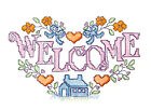 Ceramic Decals Country Crossstitch Graphic WELCOME HOME image