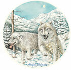 Ceramic Decals White Wolf Wolves Winter Mountain Scene image