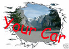 CUSTOM T-SHIRT with YOUR CAR & MOUNTAINS Set Up & T