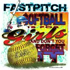 "Girls Sports ""FASTPITCH SOFTBALL"" 50/50 Gildan/Jerzees T SHIRT"