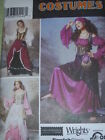 SIMPLICITY #9966 - LADIES GYPSY-MEDIEVAL-PRINCESS-WENCH COSTUME PATTERN  6-20 uc