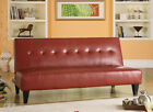 NEW IONA RED OR WHITE BYCAST LEATHER FUTON SOFA BED