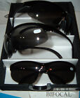 MENS SPORTY WRAP STYLE BIFOCAL SUN TINT READING GLASSES
