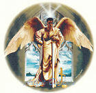 Ceramic Decals African American Male Angel with Sword