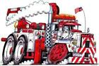Tow Truck Big Rig Recovery Cartoon Tshirt 4908