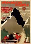 ITALY IV COPPA DEL GRAN SASSO MOUNTAIN CAR RACE AUTO RACING VINTAGE POSTER REPRO