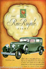 REO ROYALE EIGHT LUXURY CAR AUTOMOBILE MICHIGAN AMERICAN USA VINTAGE POSTER REPO