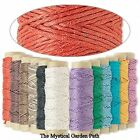 100 Foot Spool Natural Hemp Cord 0.5mm 10lb test 3 Ply  *You Choose