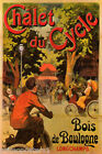 CHALET DU CYCLE BOIS DE BOULOGNE WOODS BICYCLE RIDE FRENCH VINTAGE POSTER REPRO