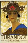 ITALY ITALIA THEATER SHOW OPERA TURANDOT MUSIC BY PUCCINI VINTAGE POSTER REPRO