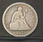 1875-S Twenty Cent  Nice Circulated  (P16786)