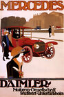 GERMANY MERCEDES DAIMLER GERMANY LUXURY CAR AUTOMOBILE VINTAGE POSTER REPRO