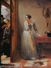 PALPITATION POSTMAN DELIVERING LETTER GIRL PAINTING BY CHARLES WEST COPE REPRO