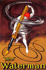 INK PEN PENCIL ART IDEAL WATERMAN HAND WRITING VINTAGE POSTER REPRO