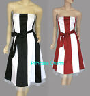 Black/White Red/White Cocktail Dress Size 8 10 12 14 16 18 20 22 24 New