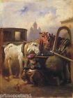 RUSSIA HORSES CABMAN HAYMARKET PAINTING BY TIMM REPRO