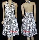 NEW Paisley Halter Dress White Size 10 12 14 16 18 20