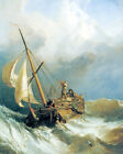 SAILBOAT OCEAN STORM BOAT PAINTING BY STANFIELD ART REPRO ON PAPER OR CANVAS
