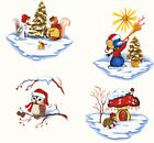 Ceramic Decals Cute Christmas Winter Animal Scenes