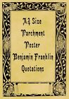 A4 Parchment Poster Benjamin Franklin Quotations