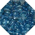 "Aqua Blue Luster 1/2"" Liquid Glass Fire Glass Fireglass Fireplace Crystals Logs"