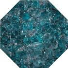 "3/4"" Aqua Blue Fire Glass Fireglass Fire Pit Fireplace Glass Crystals Gas Logs"