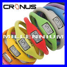 CRONUS PU Rubber Silicon Ion Digital Date Sports Mens Ladies Watch Watches 17cm