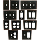 Oil Rubbed Bronze Switch Wall Plate Duplex GFCI Rocker Decora Switchplate Outlet
