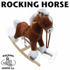 NEW Children Childs Rocking Horse With Sound in Pink Brown or Black S M L