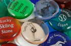 Colored Glass Lucky Imprinted Stones - Sayings A thru L