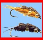 Double Bead Stoneflies - Twelve Fly Fishing Flies Your Choice Hook Size & Color