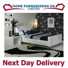Stylish Snow 6ft Super Kingsize Faux Leather Bed Free Next Day Delivery