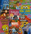 CHARACTER A4 STICKER BOOKS - Large Range - 16+ Characters {fixed £1 UK p&p}
