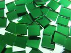 EMERALD ICE GREEN WATERGLASS MIRROR handcut stained glass mosaic tiles #40