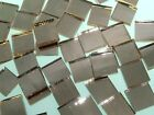 METALLIC BLUSH WATERGLASS MIRROR handcut stained glass mosaic tiles #67