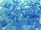 PALE BLUE TRANSLUCENT handcut stained glass mosaic tiles #121