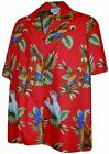 Parrots Hawaiian Shirt, Red