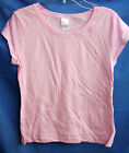 NEW BASIC 100% COTTON LIGHT PINK Cap Sleeve Solid Tee Shirt GIRL SIZES NWOT