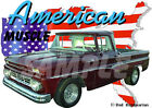 1962 Burgundy Chevy Pickup Truck Custom Hot Rod USA T-Shirt 62, Muscle Car Tee's
