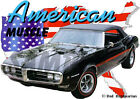 1968 Black Pontiac FireBird Convertible Hot Rod USA T-Shirt 68, Muscle Car Tee's